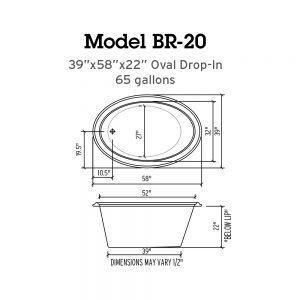 BR-20 Whirlpool Tub Specs