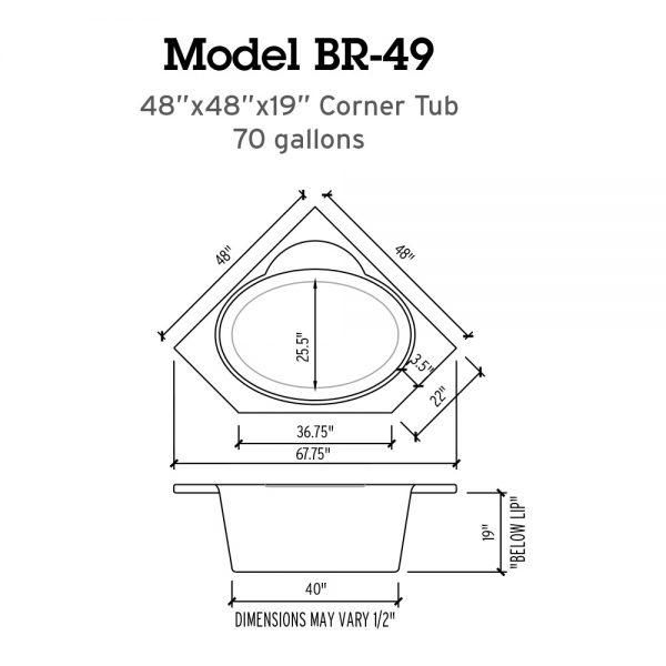 BR 49 Whirlpool Bathtub Specs